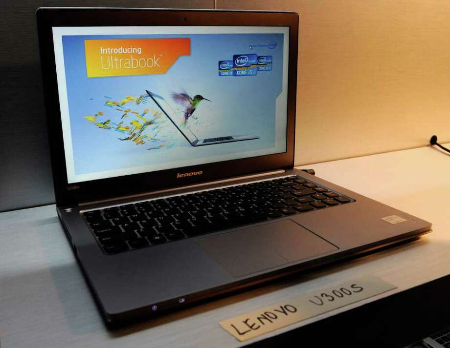 LAS VEGAS, NV - JANUARY 09:  A Lenovo U300s Ultrabook is displayed during a press event by Intel Corp. at The Venetian for the 2012 International Consumer Electronics Show January 9, 2012 in Las Vegas, Nevada. CES, the world's largest annual consumer technology trade show, runs from January 10-13 and is expected to feature 2,700 exhibitors showing off their latest products and services to about 140,000 attendees. Photo: Ethan Miller, Getty Images / 2012 Getty Images