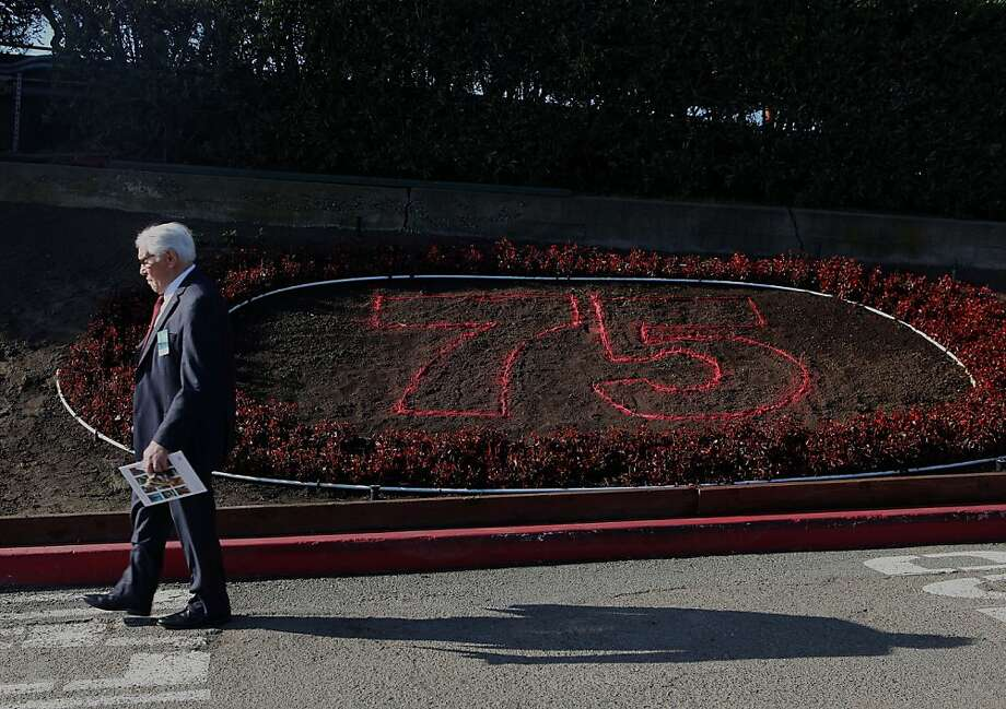 John Moylan, on the board of directors for the Golden Gate district, passing by the not yet completed succulent garden near the Round House on the south side of Golden Gate bridge in San Francisco, Calif., on Monday, January 9, 2012.  The Golden Gate Bridge will soon be celebrating it's 75th anniversary. Photo: Liz Hafalia, The Chronicle