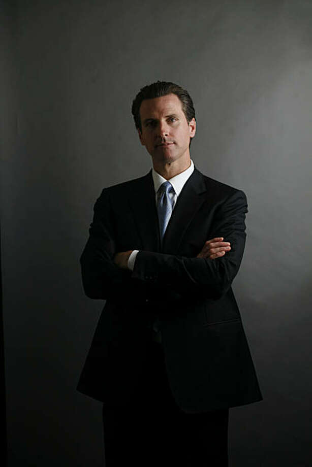 Mayor Gavin Newsom has been running the city of San Francisco for two terms and hopes to win again in the November elections. Photo: Mike Kepka, The Chronicle