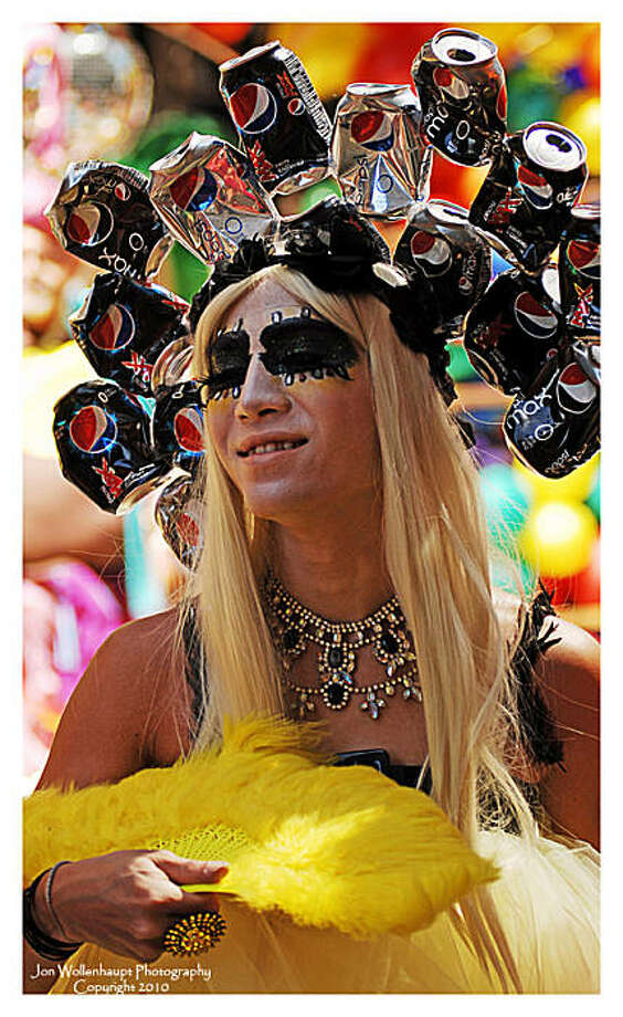 Quite an unusual crown adorns the head of this proud princess at the San Francisco Gay Pride Parade on Sunday, June 27, 2010. Photo: Sfphotoguy, Reader Photo