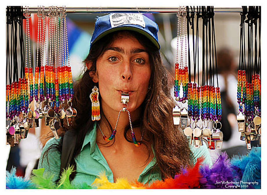 Street vendors like this one had special rainbow wares for the thousands of people attending the Gay Pride parade in San Francisco on Sunday, June 27, 2010. Photo: Sfphotoguy, Reader Photo