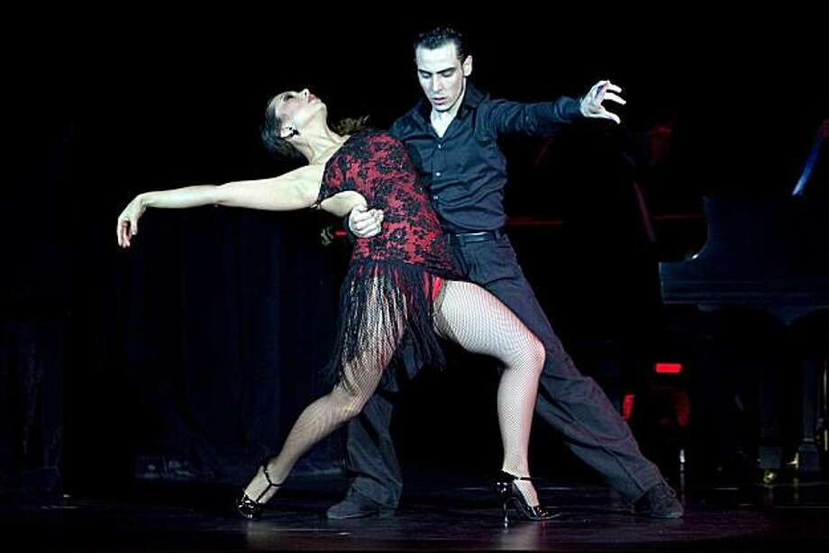 Cheryl Burke and Ezequiel Lopez Hudyma perform Tanguera during the performance of Forever Tango at the Marines' Memorial Theatre on December 21, 2010 in San Francisco, Calif. Photo: David Paul Morris, Special To The Chronicle