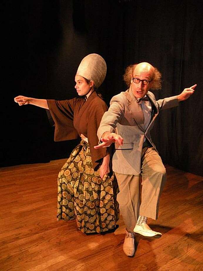 "Moshe Cohen and Jubilith Moore perform in ""Mr. YooHoo's Holiday"" at Theatre of Yugen. Photo: Theatre Of Yugen"