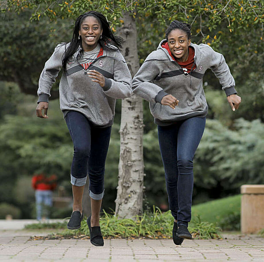 Stanford University women basketball players, sisters, Chiney, (left) and Nneka Ogwumike on the Palo Alto, Ca. campus on Tuesday Dec. 21, 2010.Stanford University women basketball players, sisters, Chiney, (left) and Nneka Ogwumike on the Palo Alto, Ca. campus on Tuesday Dec. 21, 2010. Photo: Michael Macor, The Chronicle
