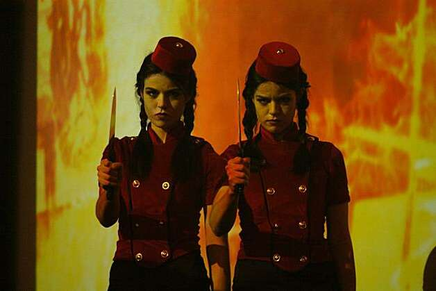 Jade and Nikita Ramsey starring in Joshua Grannell's ALL ABOUT EVIL, playing at the 53rd San Francisco International Film Festival, April 22 - May 6, 2010. Photo: Marcy Cravat, Courtesy S.F. Film Society