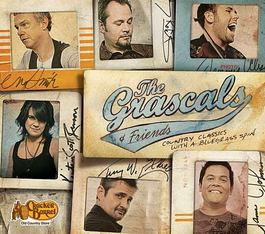 "In this CD cover image released by Cracker Barrel, a release by The Grascals, ""Country Classics with a Bluegrass Spin,"" is shown. The bluegrass band waited three years to get what they wanted from the popular restaurant chain: a slot in its exclusive music program. Photo: AP"