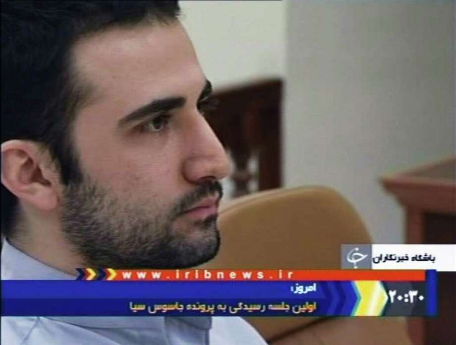 Amir Mirzaei Hekmati, who was born in the United States, was convicted in Iran on charges of spying for  the CIA. His  family says he was just visiting relatives in Iran. Photo: Anonymous / IRIB