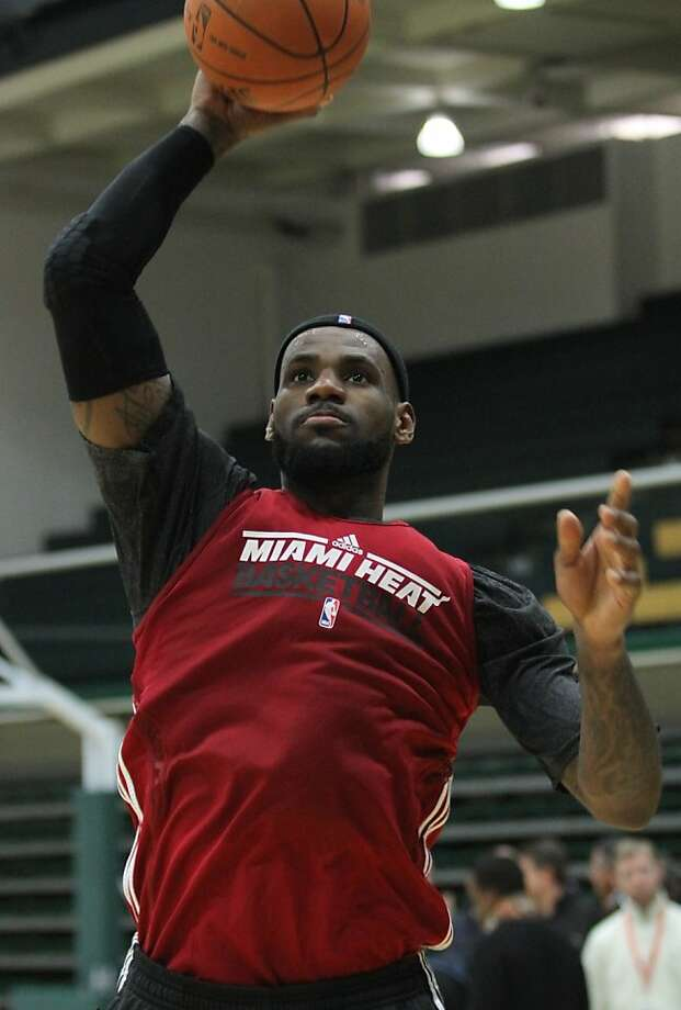 The Miami Heat's LeBron James practices at USF on Monday, Jan. 9, 2012 in San Francisco. Photo: Mathew Sumner, Special To The Chronicle