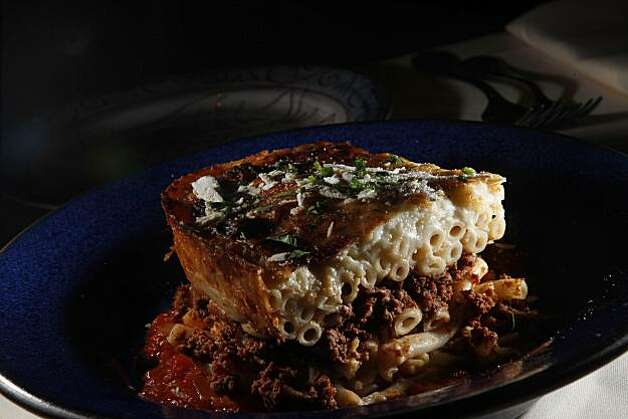 Pastitsio made by Kokkari executive chef Erik Cosselmon is seen at Kokkari on Thursday, December 16, 2010 in San Francisco, Calif. Photo: Lea Suzuki, The Chronicle