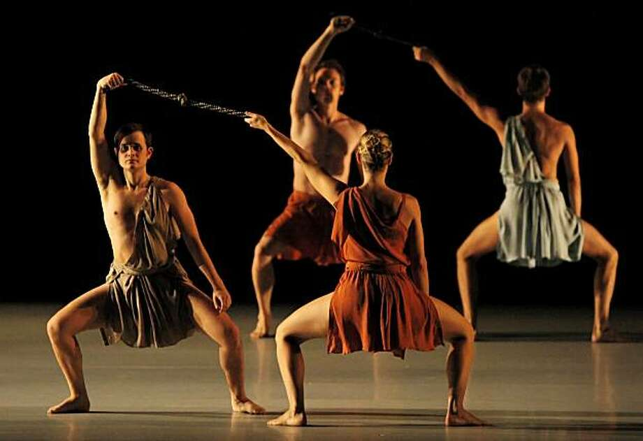 Members of The Mark Morris Dance Group performs in Socrates at Zellerbach Hall at the University of California at Berkeley on Thursday, September 30, 2010. The group performed three pieces: Behemoth, Looky, and Socrates. Photo: Carlos Avila Gonzalez, The Chronicle