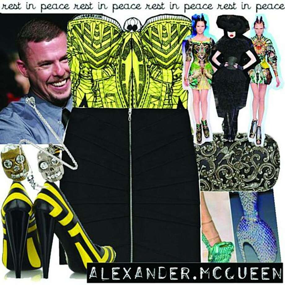 "This Polyvore set, titled ""RIP Alexander McQueen,"" was created by lalalisa. Photo: Courtesy Polyvore"