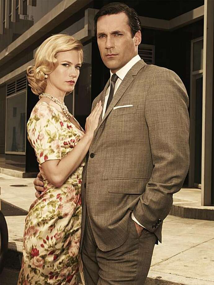 "This photo released by AMC shows January Jones as Betty Draper and Jon Hamm as Don Draper in ""Mad Men"". (AP Photo/AMC Frank Ockenfels)**NO SALES** Photo: Frank Ockenfels, AP"