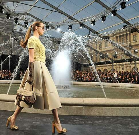 A model walks the runway during the Louis Vuitton Ready to Wear show as part of the Paris Womenswear Fashion Week Fall/Winter 2011 at Cour Carree du Louvre on March 10, 2010 in Paris, France. Photo: Francois Durand, Getty Images