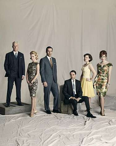 """Mad Men"" principals John Slattery, January Jones, Jon Hamm, Vincent Kartheiser, Elisabeth Moss and Christina Hendricks. Photo: Frank Ockenfels 3 /AMC"