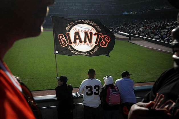 Soaking in the moment, Chris Zafra, 15, flies his Giants flag in left field  the Giants won game 3 of the National League Champion series with the San Francisco Giants and the Philadelphia Phillies on Tuesday Nov. 19, 2010 in San Francisco, Calif.  GiantSoaking in the moment, Chris Zafra, 15, flies his Giants flag in left field  the Giants won game 3 of the National League Champion series with the San Francisco Giants and the Philadelphia Phillies on Tuesday Nov. 19, 2010 in San Francisco, Calif.  Giants won with a final score of 3-0.   Ran on: 10-27-2010 Basking in the moment, 15-year-old Chris Zafra flies his flag in left field at AT&T Park after the Giants won Game 3 of the NLCS against the Phillies. Photo: Mike Kepka, The Chronicle