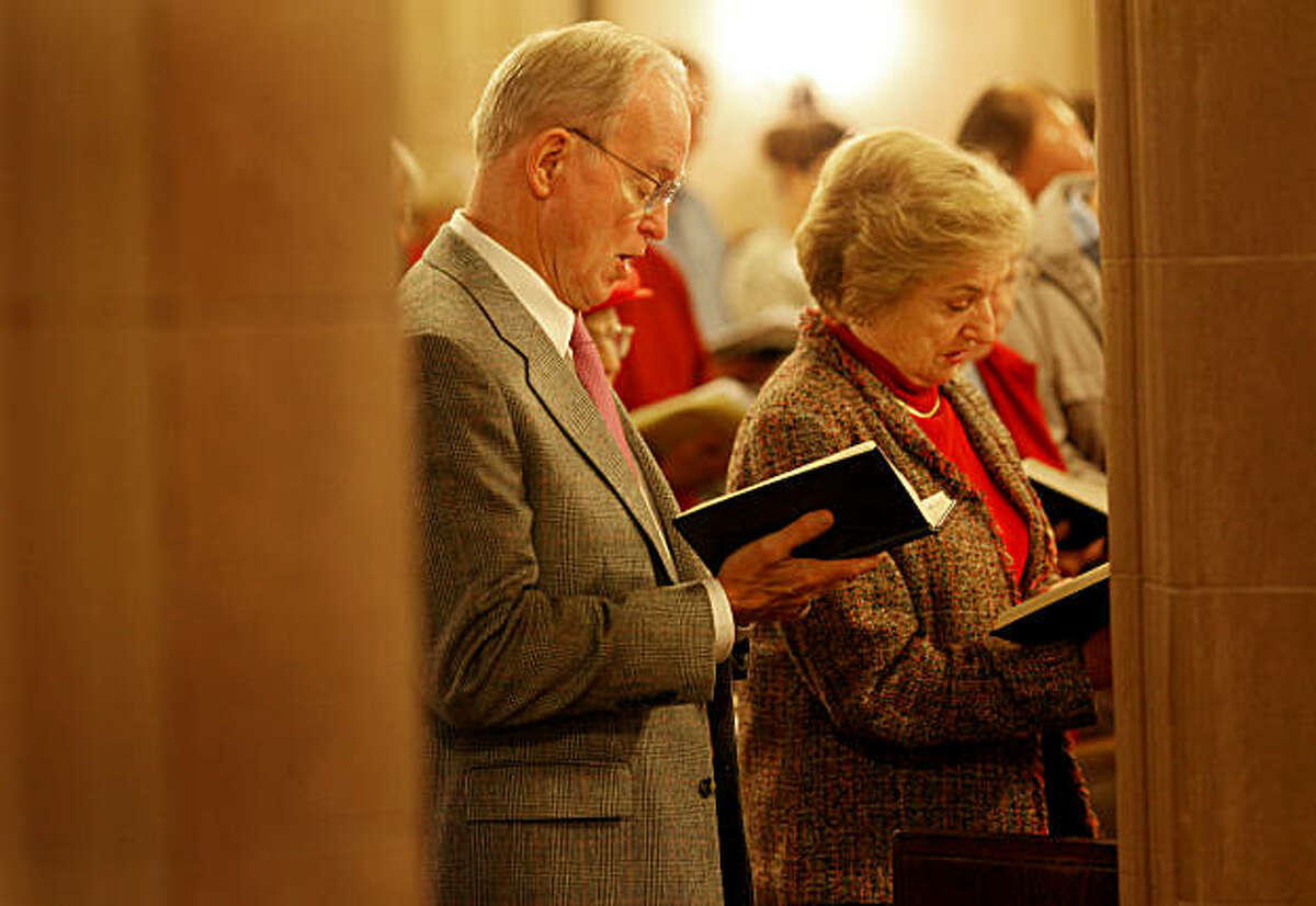 Bishop Swing enjoys spending time in the pews with other parishioners at St. Pauls and his wife Mary Swing. William Swing, the former Bishop of the Episcopal Church in California for 27 years, is enjoying his time away from the spotlight. He attends services at St. Paul's Episcopal Church in Burlingame, Calif. Sunday December 19, 2010 with his wife Mary Swing.