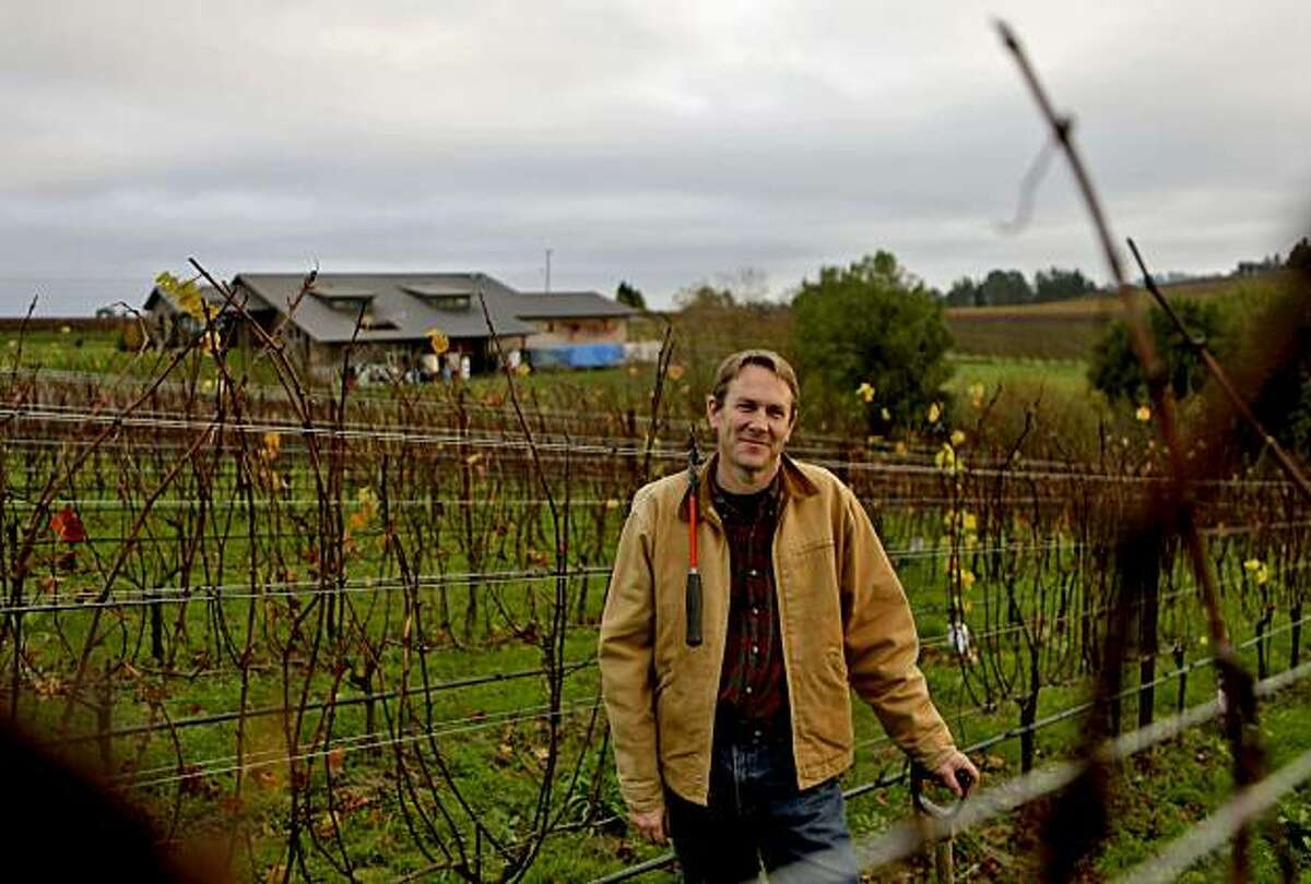 Ted Lemon owner and winemaker of Littorai Wines, stands among his 3 acres of vineyards, Monday Dec. 13, 2010, in Sebastopol, Calif. In 2003 the Lemons purchased a thirty acre farm in which three are devoted to growing Pinot Noir and are specialized in Chardonnay and Pinots.