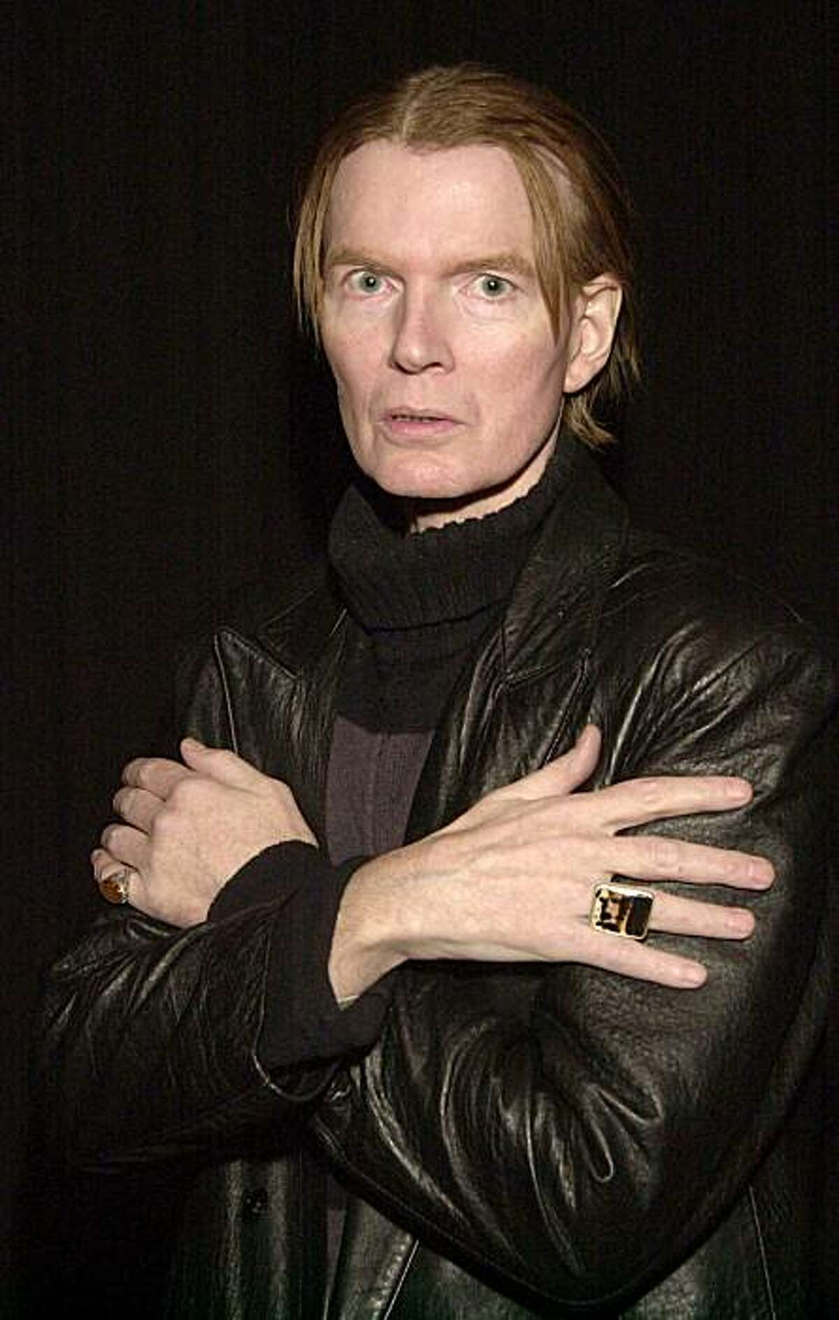 """NEW YORK - FEBRUARY 19: (FILE PHOTO) Jim Carroll, author of """"The Basketball Diaries"""", poses before a reading from his new book of poems """"Void of Course: Poems 1994-1997"""" and other works February 19, 2002 in the Brooklyn borough of New York City. Poet and musician Jim Carroll, who is best known for his memoir """"The Basketball Diaries"""" died of a heart attack September 11, 2009 at his home in New York City. (Photo by Andrew Serban/Getty Images)"""