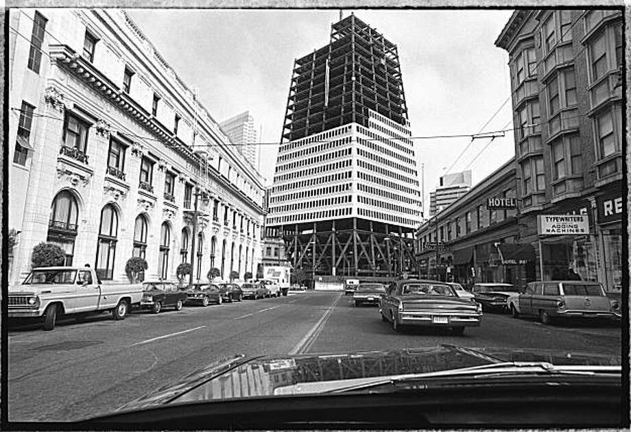 Construction is underway on the Transamerica Pyramid June 3, 1971 in San Francisco, Calif.    Photo was taken: 06/03/1971. Photo: Joseph J. Rosenthal, The Chronicle