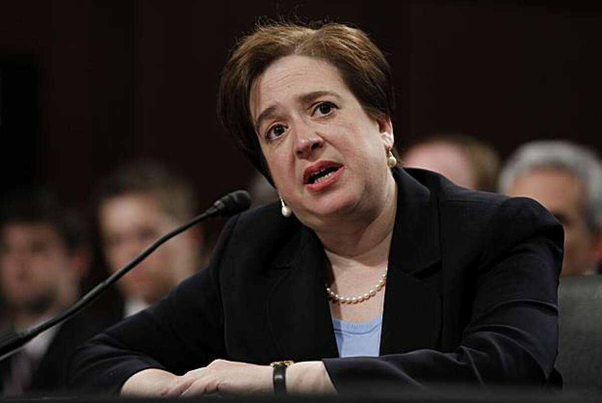 ** ADVANCE FOR SUNDAY, AUG. 8 AND THEREAFTER - FILE - In this June 30, 2010 file photo, Supreme Court nominee Elena Kagan testifies on Capitol Hill in Washington, before the Senate Judiciary Committee hearing on her nomination.