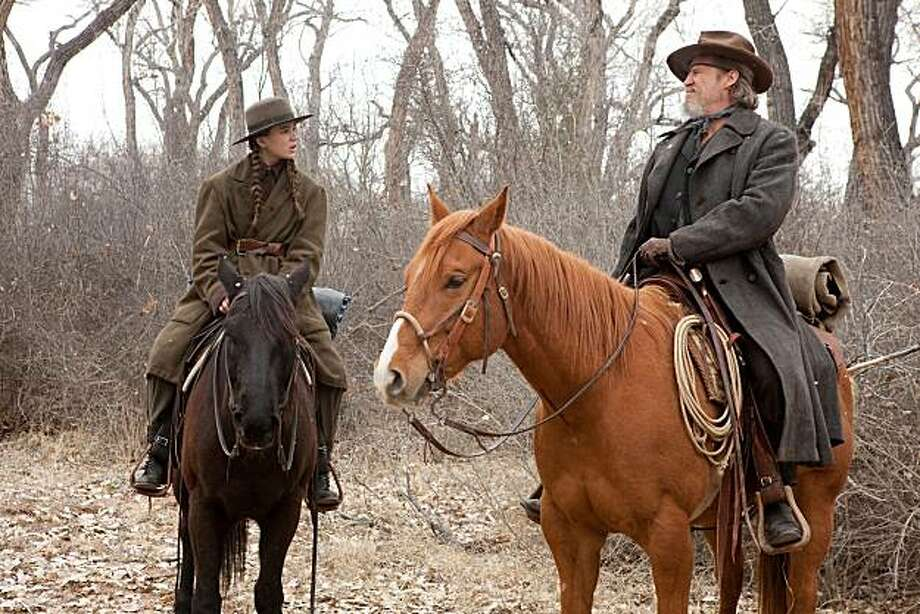 "In this film publicity image released by Paramount Pictures, Hailee Steinfeld , left, and Jeff Bridges is shown in a scene from, ""True Grit."" Photo: Lorey Sebastian, AP"