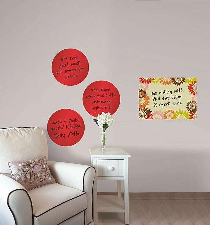 Wall-Pops dry-erase message boards Photo: Wall Pops