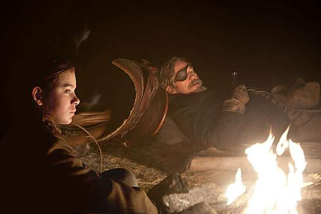 "Jeff Bridges and Hailee Steinfeld appear in a scene from, ""True Grit."" Photo: Photo Credit: Lorey Sebastian, Paramount Pictures"