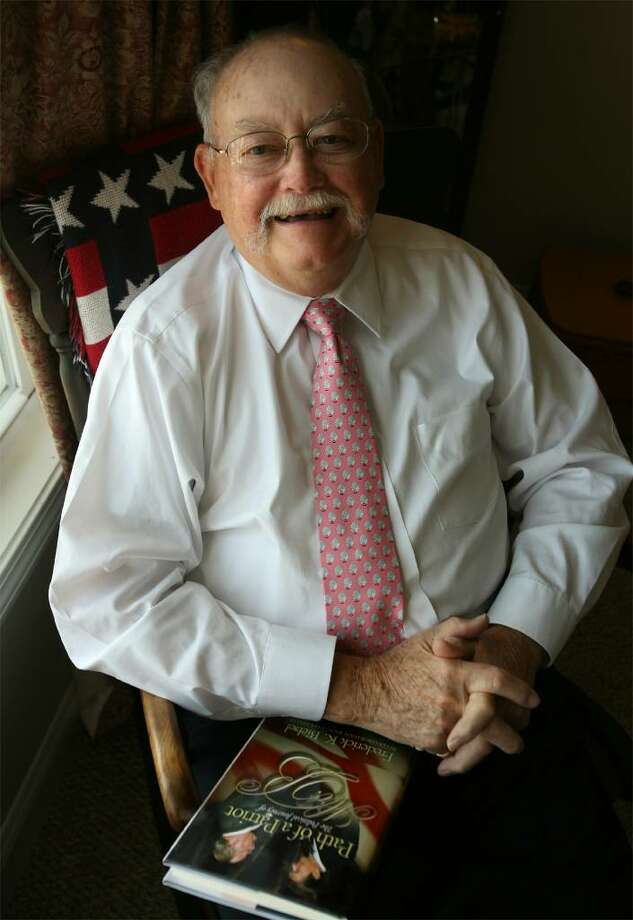 Frederick K. Biebel poses at home in Stratford, Conn. in August of 2008. Biebel, a longtime Republican activist in Connecticut and veteran of 14 national GOP conventions, has died. He was 83. Photo: Brian A. Pounds / Connecticut Post