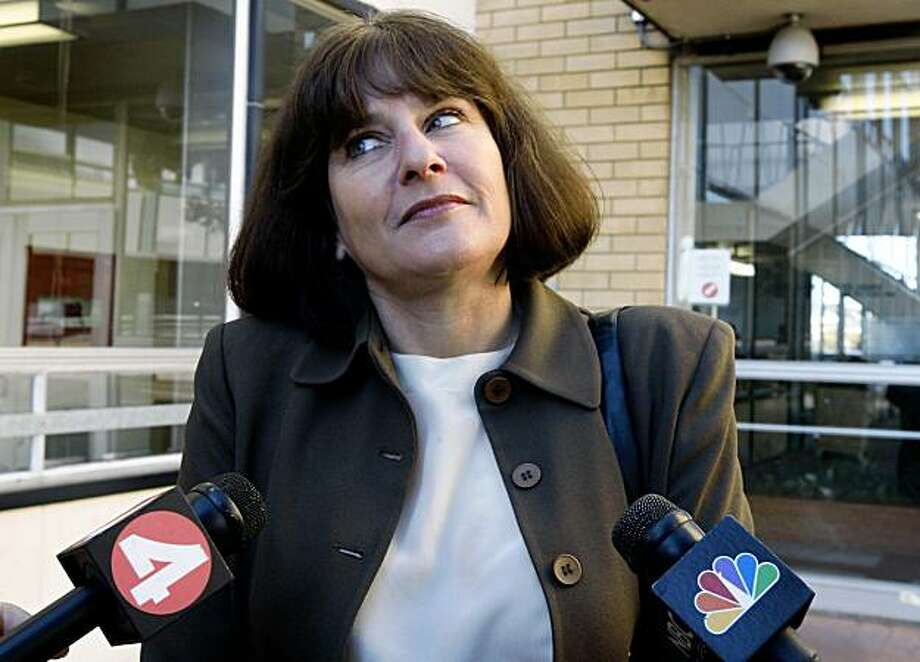 Senior deputy district attorney Dara Cashman describes the charges for four suspects accused in the gang rape of a 15-year-old high school student in Richmond, Calif., on Thursday, Oct. 29, 2009. Photo: Paul Chinn, The Chronicle