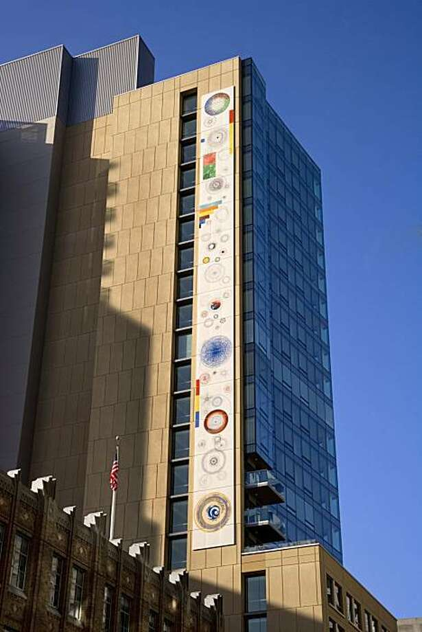 Cotati sculptor Robert Hudson's mural for One Hawthorne, a new condominium high-rise by EHDD architects overlooking Howard Street in San Francisco, is made of porcelain over steel. Photo: David Wakely