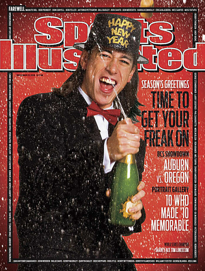 Tim Lincecum of the San Francisco Giants graces the cover of Sport Illustrated. courtesy Sports Illustrated