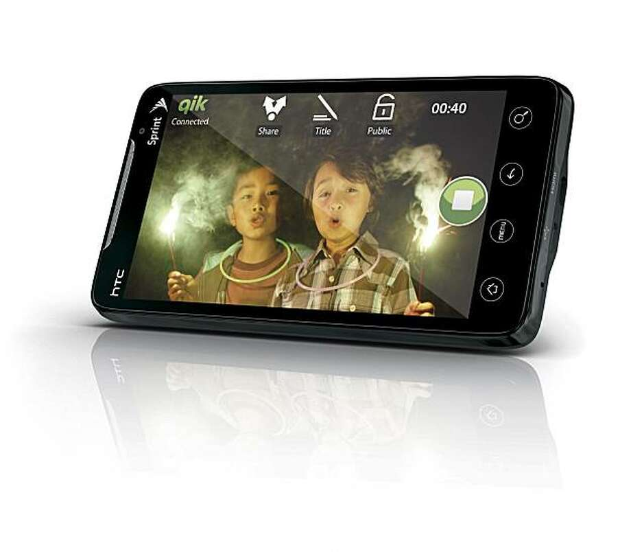 In this product image provided by Sprint, the Sprint HTC EVO 4G mobile phone is displayed. Photo: AP