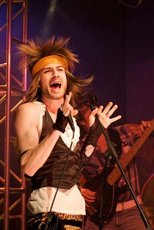 "Patrick Alparone as lead singer JJ Rock in Climate Theatre's ""The Man of Rock"" by Daniel Heath Photo: Angela Manginelli"