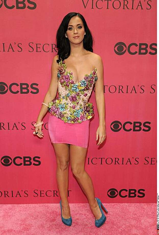 Katy Perry - November 10, 2010 - New York, NY - VICTORIA'S SECRET Fashion Show 2010 Arrivals at Lexington Armory, NYC. This hot pink skirt is actually a bodyshaper, meant to be worn under a dress or skirt to hide bulges and pantylines. It runs $42 at Victoria's Secret stores. Photo: MARC DIMOV/PatrickMcMullan.com/S, Associated Press
