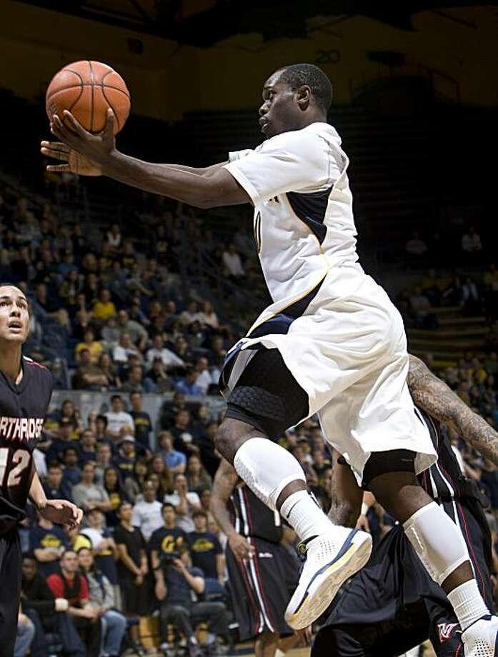 Nigel Carter, Cal basketball, 2010. Photo: Michael Pimentel, GoldenBearSports.com
