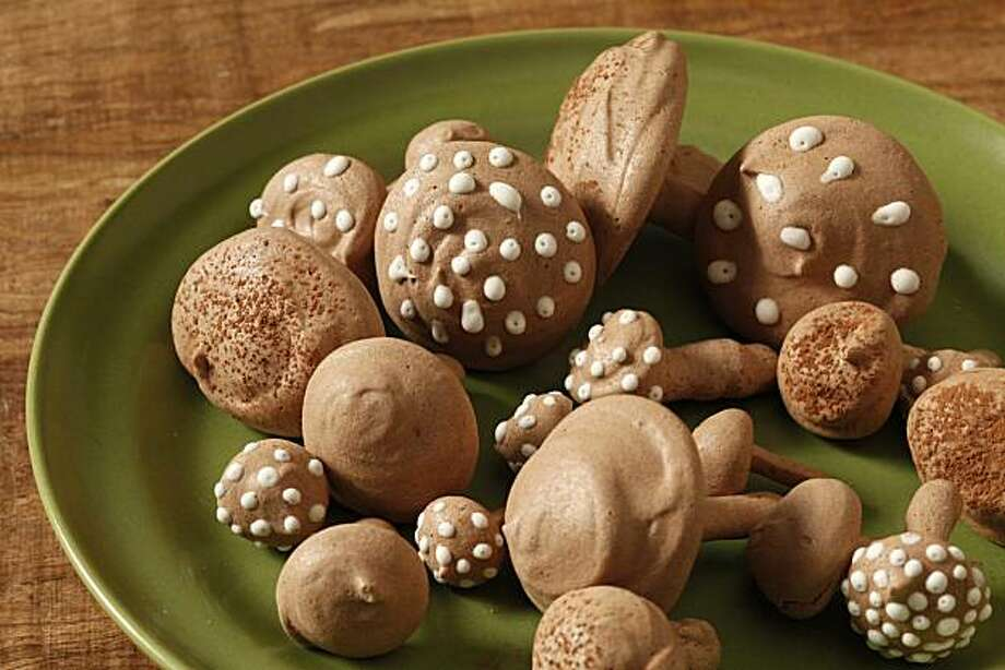 Chocolate meringue mushrooms as seen in San Francisco, California on December 15, 2010. Food styled by Lindsay Patterson. Photo: Craig Lee, Special To The Chronicle