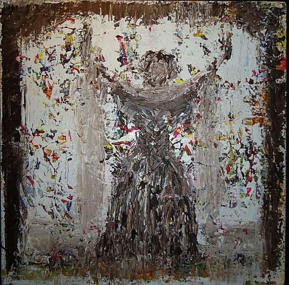 "Franc D'Ambrosio's La Diva, 24""x24"", acrylic on canvas  Photo:  Courtesy of ArtHaus Photo: Courtesy Of ArtHaus"