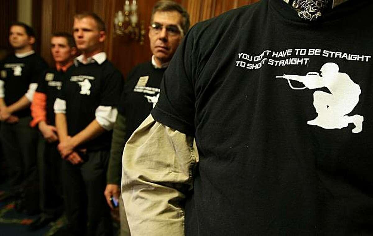 WASHINGTON, DC - DECEMBER 15: People wear shirts reading
