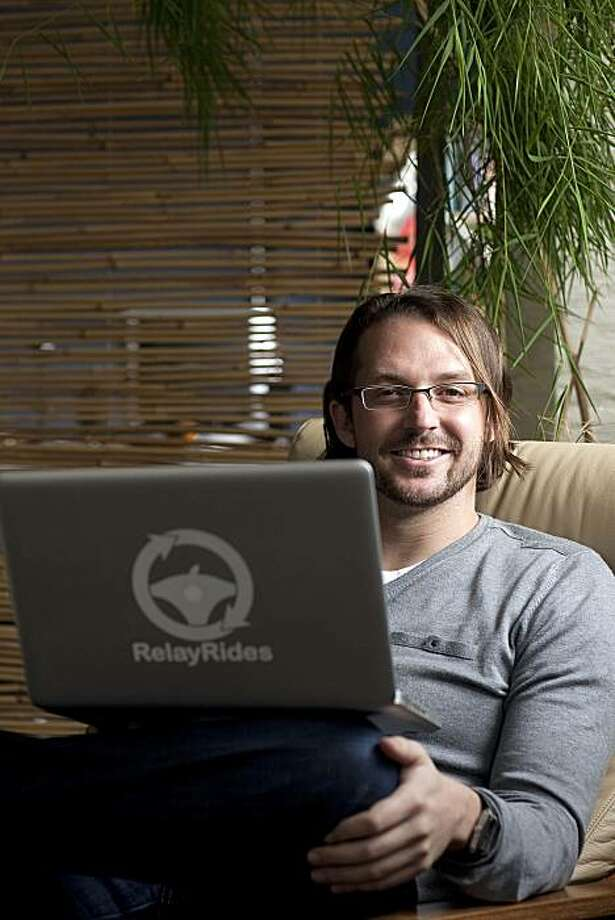Shelby Clark, chief executive officer of RelayRides, poses for a photograph at the company's office in San Francisco, California, U.S., on Thursday, Dec. 9, 2010. RelayRides, the world's first neighbor-to-neighbor car-sharing service, will launch in San Francisco on December 14, backed by a $4.5 million Series A investment from August Capital and Google Ventures. Photographer: David Paul Morris/Bloomberg *** Local Caption *** Shelby Clark  HOLD FOR SF CHRON STORY BY ARI LEVY - EMBARGOED UNTIL MIDNIGHT TUESDAY, DEC. 14, 2010 (00:00 NY TIME) Photo: David Paul Morris, Bloomberg
