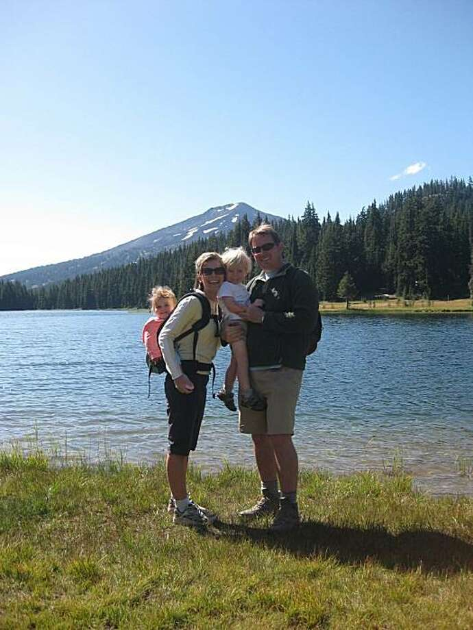 Tim Lynch with wife Jenny, son Ethan and daughter Piper at Todd Lake near Bend, Ore. Photo: Kathy Lynch