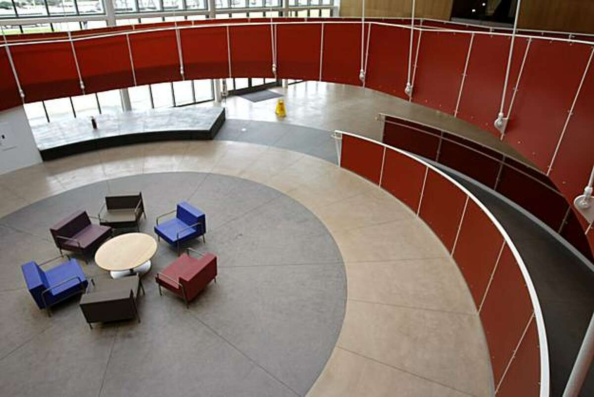 The spiraling ramp, located in the lobby of the Ed Roberts Campus, is accessible to all in Berkeley, Calif., on Dec. 10, 2010. The Ed Roberts Campus, named after Edward V. Roberts, a leader of the independent living movement, showcases design accessible to all in Berkeley, Calif., on Dec. 10, 2010.