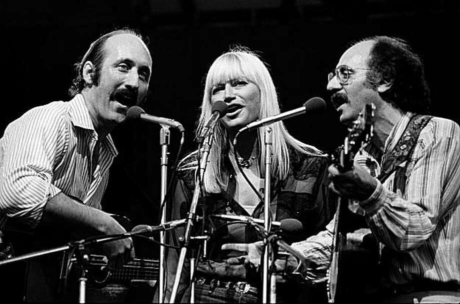 """Peter, Paul and Mary reunited in 1978. Noel """"Paul"""" Stookey, Mary Travers and Peter Yarrow (Photo by Richard E. Aaron / Redferns) Photo: Richard E. Aaron, Redferns"""