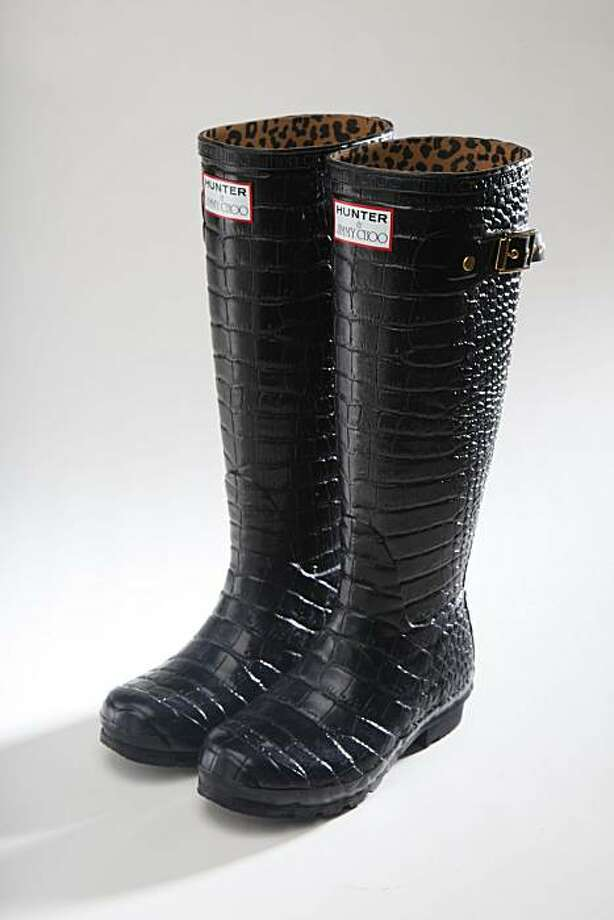 Bring on the rain, bring on the mud, bring on the sunshine. It's all good when you're wearing crocodile-printed waterproof Hunter boots for Jimmy Choo, $395, www.saksfifthavenue.com. Photo: Mike Kepka, The Chronicle