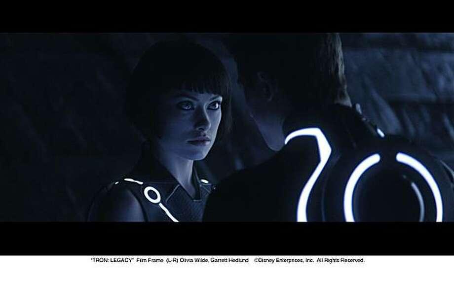 "Olivia Wilde in ""Tron: The Legacy."" Photo: Disney"