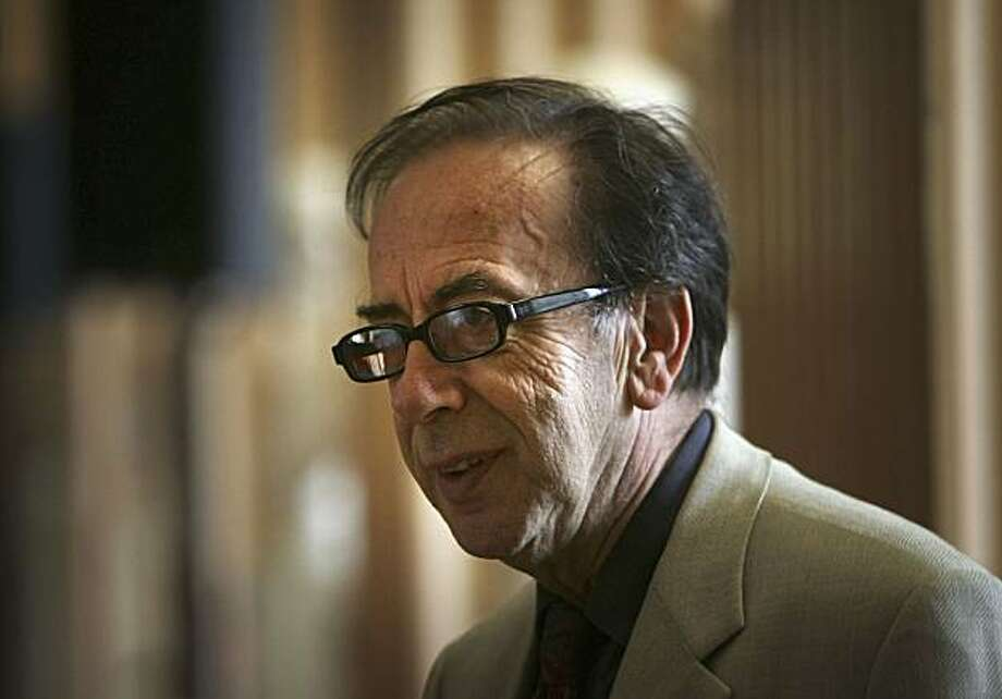 EDINBURGH, UNITED KINGDOM - JUNE 27: Winner of The Man Booker International Prize 2005 Ismail Kadare poses for the press at The Playfair Library on June 27, 2005 Edinburgh, Scotland. Kadare from the Albaninan town of Gjirokaster, near the Greek border wasjudged as the world's best writer by the Booker Man judging panel. (Photo by Christopher Furlong/Getty Images) Photo: Christopher Furlong, Getty Images