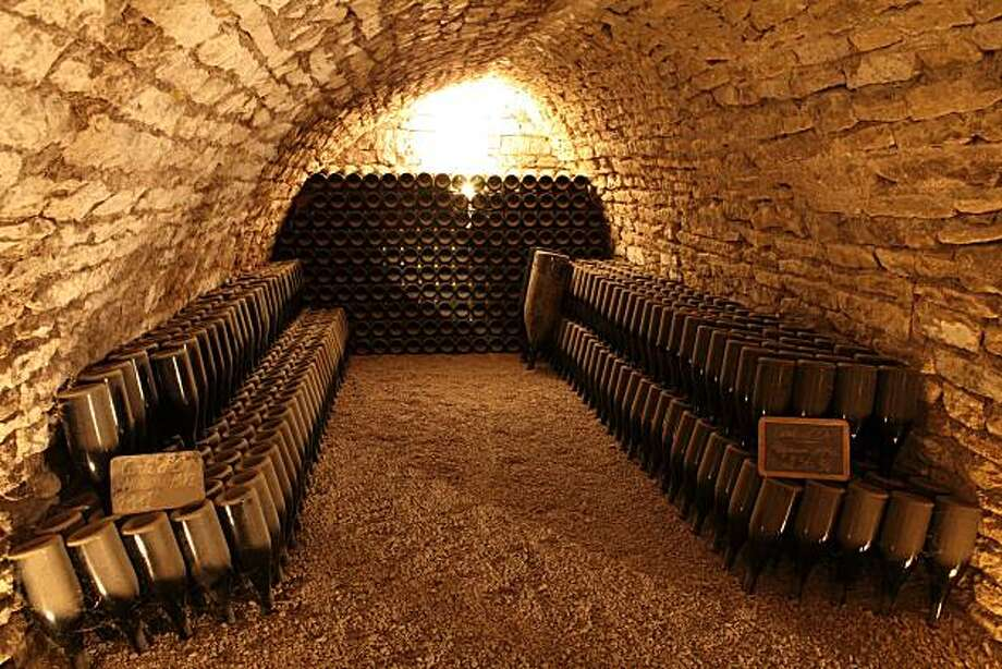 A Champagne cave in the town of Urville, in the Aube region of Champagne. Photo from 2009. Photo: Michel Guillard, Champagne Bureau