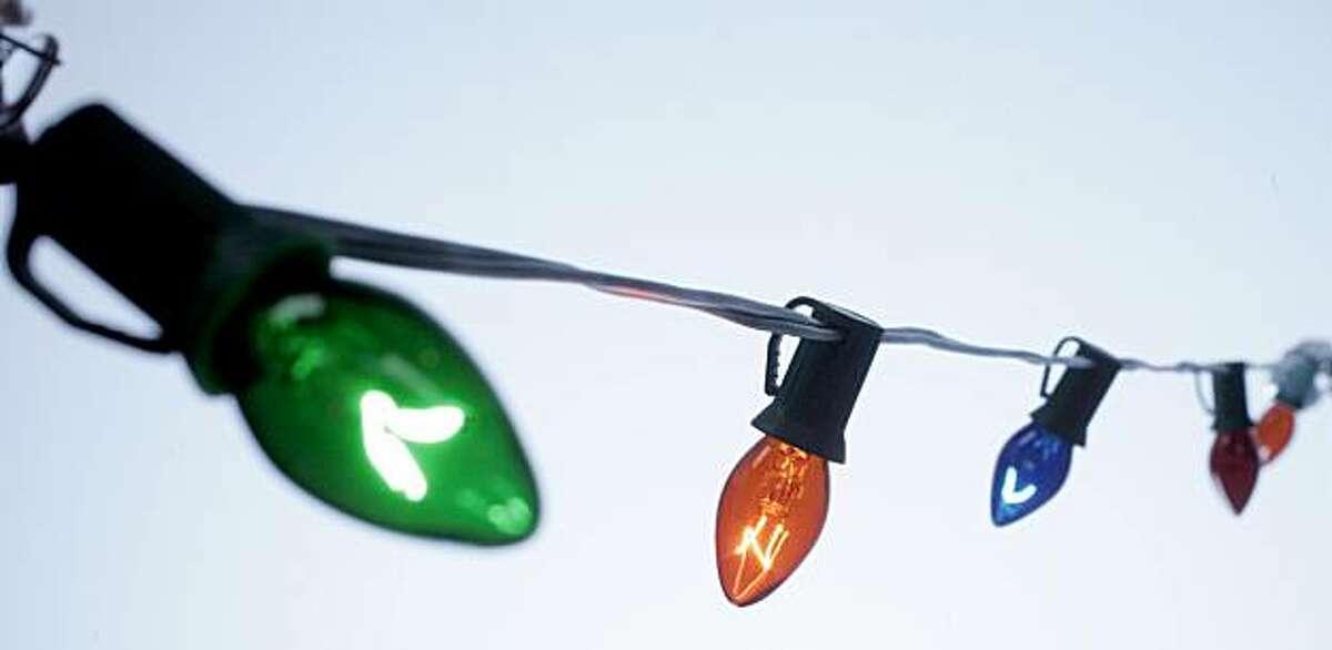 Christmas lights: C-7 string.