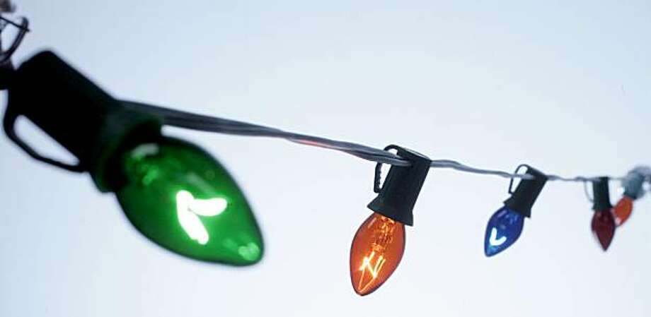 Christmas lights: C-7 string. Photo: Katy Raddatz, The Chronicle