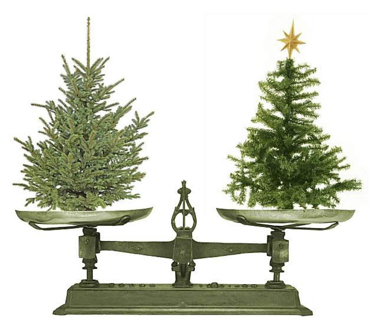 The Christmas tree greenscale dilemma: Real or fake?