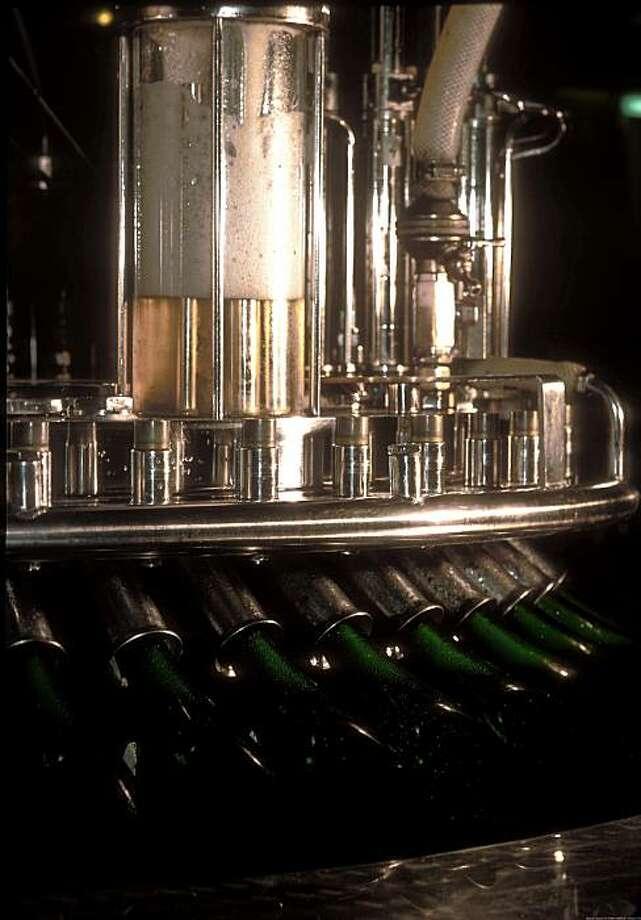 A machine for adding dosage to Champagne. Photo taken 1983. Photo: Champagne Bureau